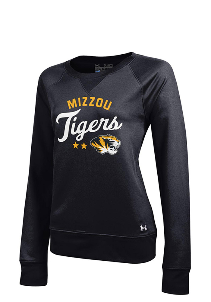 Under Armour Missouri Tigers Juniors Black Varsity Crew Crew Sweatshirt - Image 1