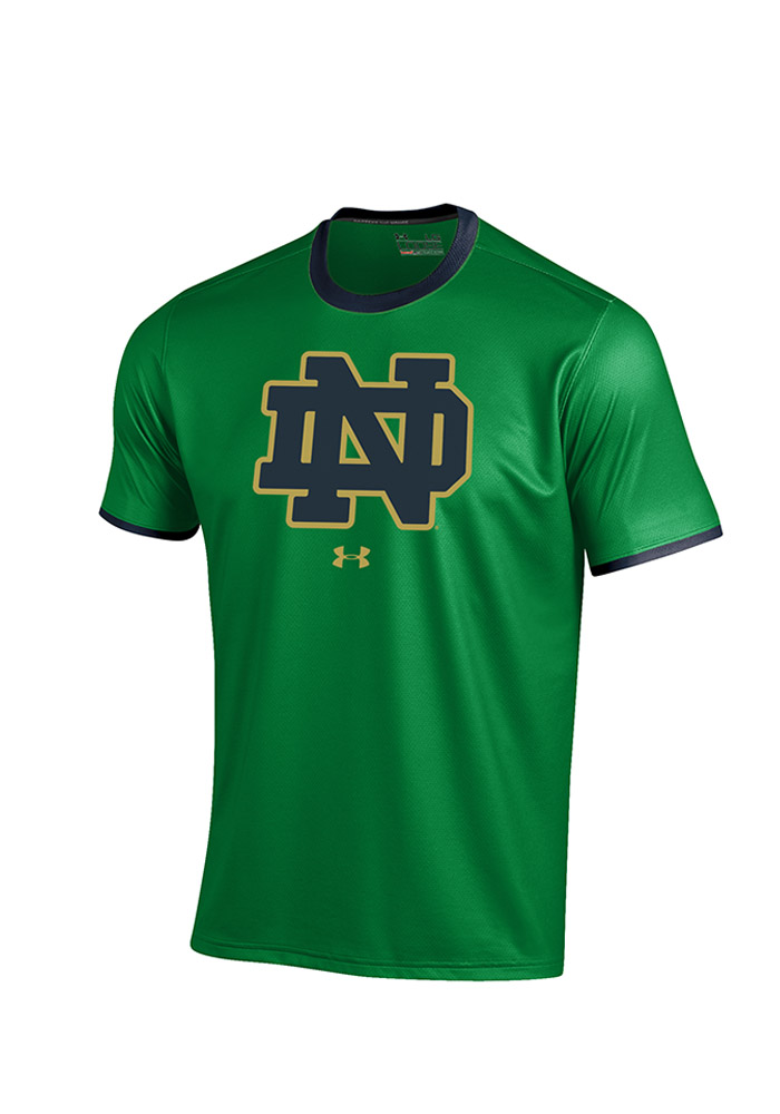 Under Armour Notre Dame Fighting Irish Green Huddle Short Sleeve T Shirt - Image 1