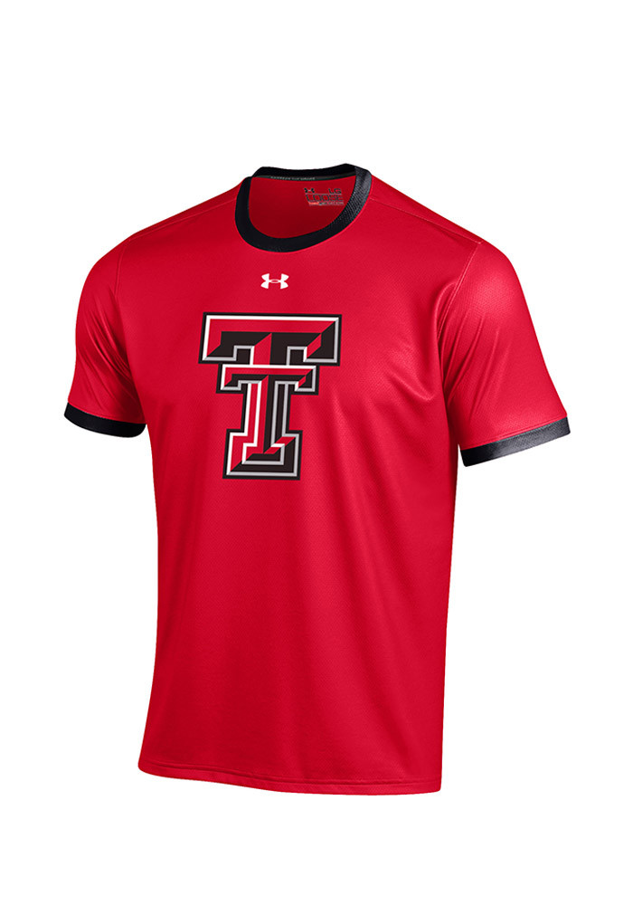 Under Armour Texas Tech Red Raiders Mens Red Huddle Short Sleeve T Shirt - Image 1