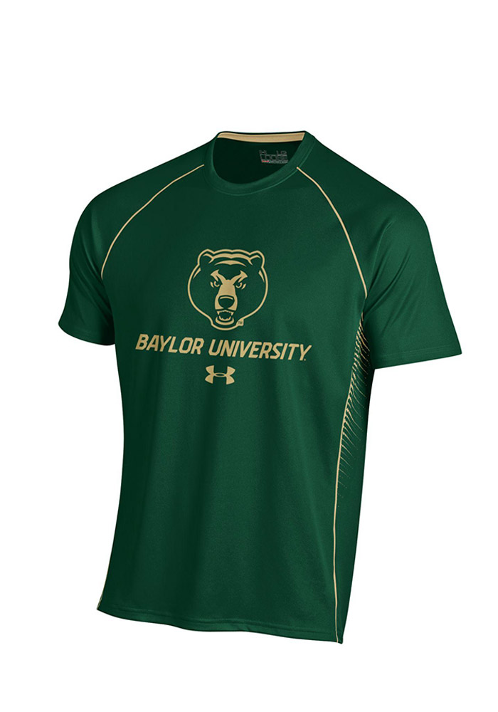 Under Armour Baylor Mens Green SMU Performance Tee 55290451