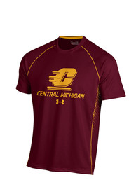Under Armour Central Michigan Chippewas Maroon SMU Tee