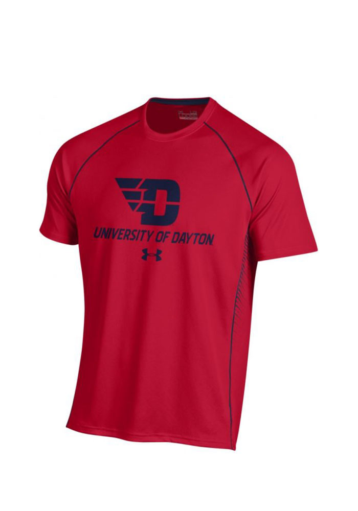Under Armour Dayton Flyers Red SMU Short Sleeve T Shirt - Image 1