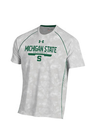 Under Armour Michigan State Spartans Grey Limitless Tee