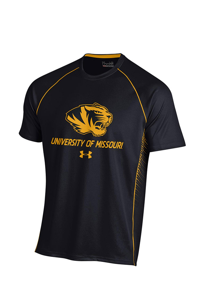 Under Armour Mizzou Tigers Mens Black SMU Performance Tee 55290459