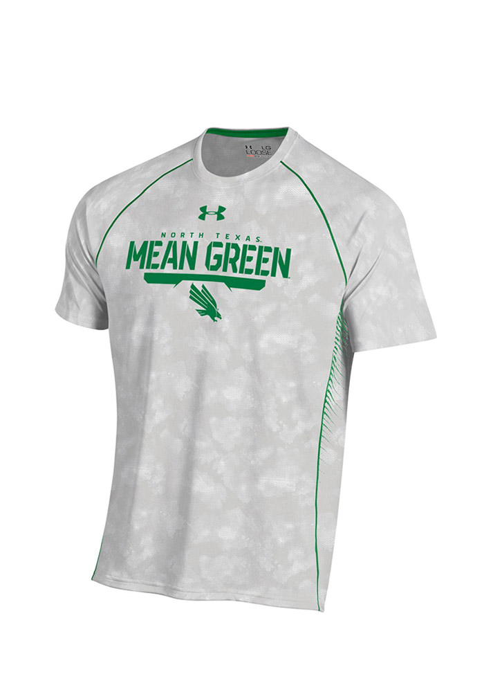 Under Armour North Texas Mean Green Grey Limitless Short Sleeve T Shirt - Image 1