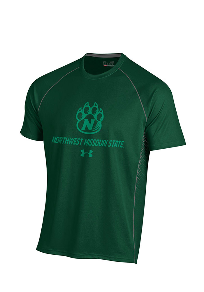 Under Armour Northwest Mo State Bearcats Mens Green SMU Performance T-Shirt 55290463