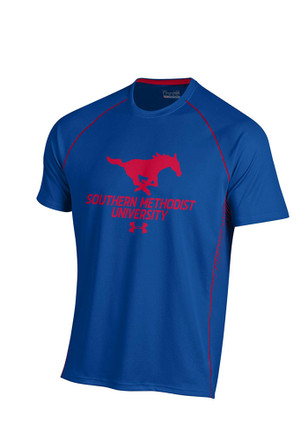 Under Armour Mustangs Mens Blue SMU Performance Tee