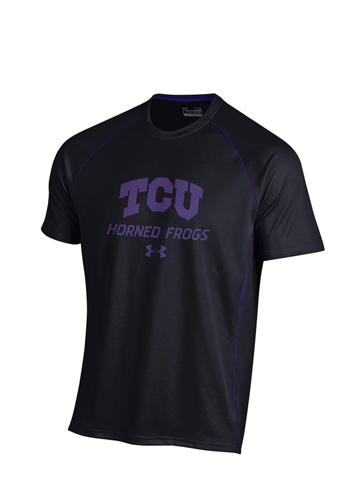 Under Armour Horned Frogs Mens Black SMU Performance Tee 55290470