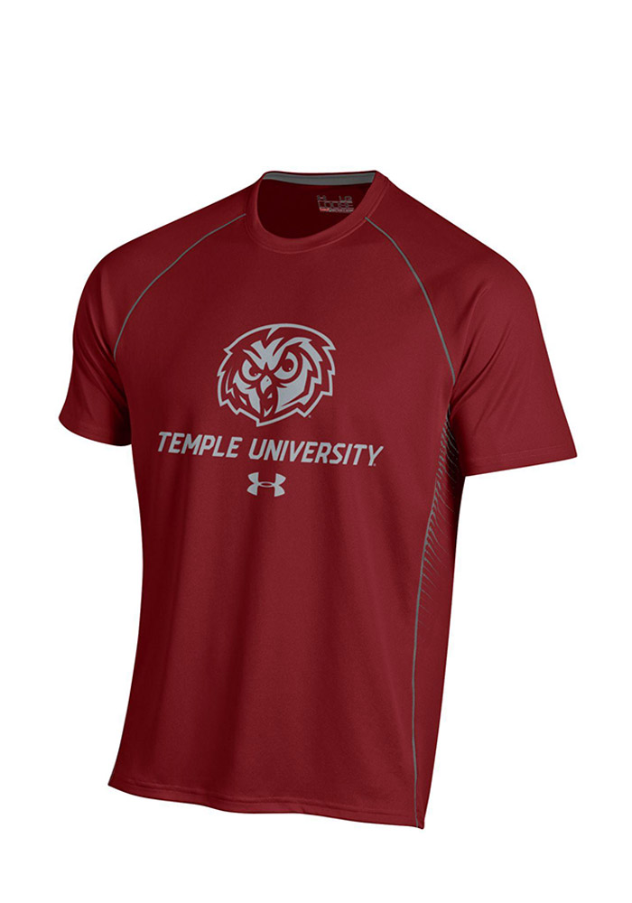 Under Armour Temple Mens Red SMU Performance Tee 55290472