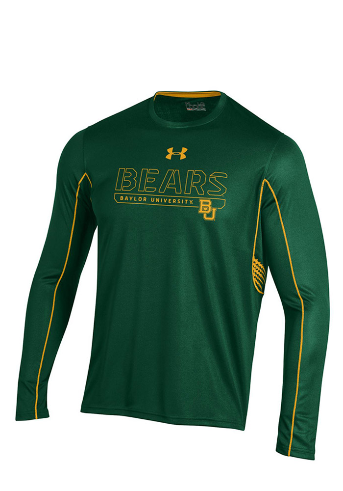 Under Armour Baylor Mens Green SMU Performance Tee 55290481