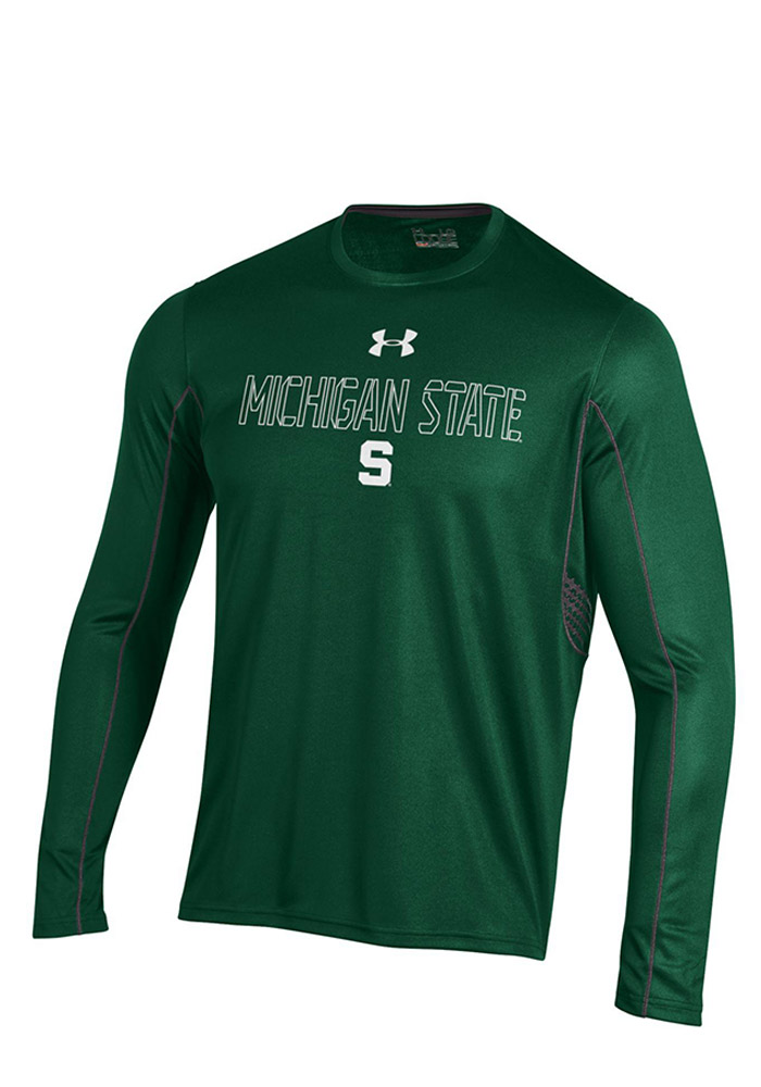 Under Armour Michigan State Spartans Green SMU Long Sleeve T-Shirt - Image 1
