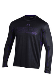 Under Armour Horned Frogs Mens Black SMU Performance Tee