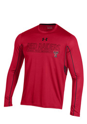 Under Armour TTech Red Raiders Mens SMU red Performance Tee
