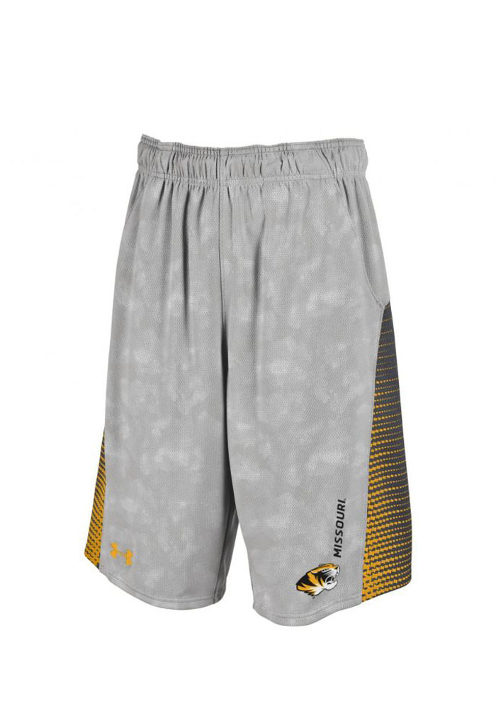 Under Armour Missouri Tigers Mens Grey Limitless Shorts - Image 1