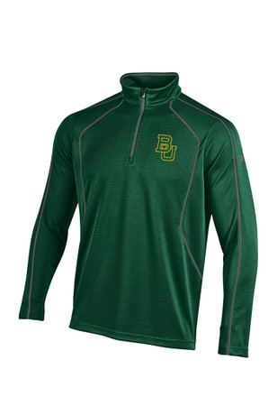 Under Armour Baylor Mens Green SMU 1/4 Zip Performance Pullover