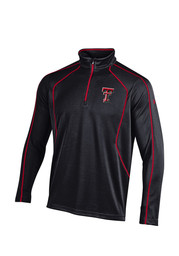 Under Armour Texas Tech Mens Black SMU 1/4 Zip Performance Pullover