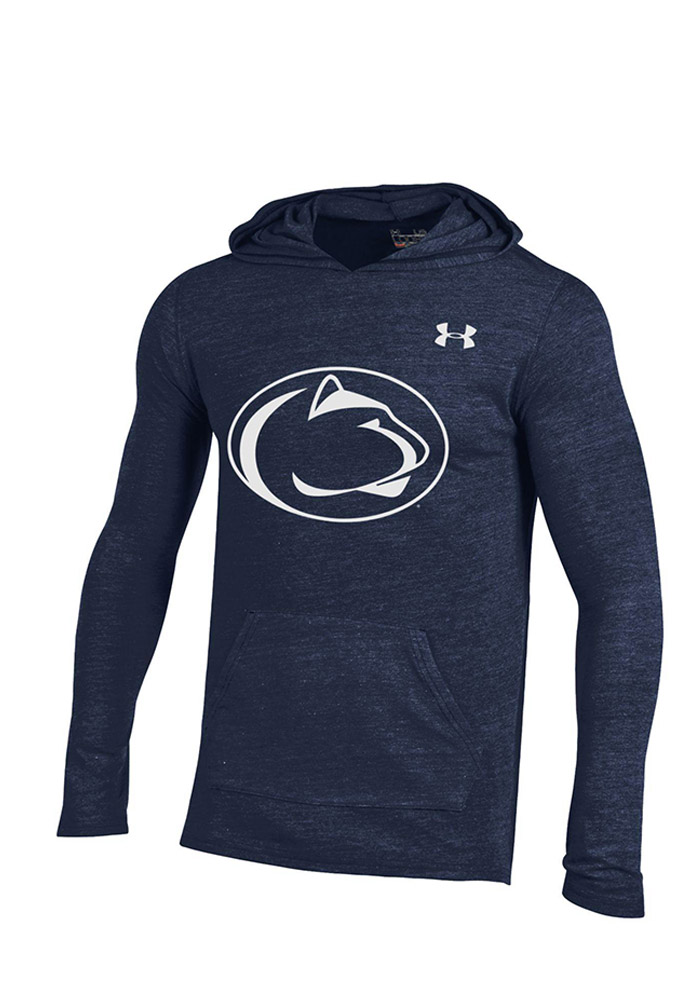 Under Armour Penn State Nittany Lions Mens Navy Blue Triblend Long Sleeve Hoodie - Image 1