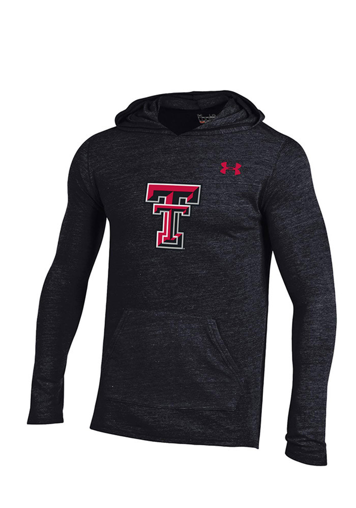 Under Armour Texas Tech Red Raiders Mens Black Triblend Long Sleeve Hoodie - Image 1
