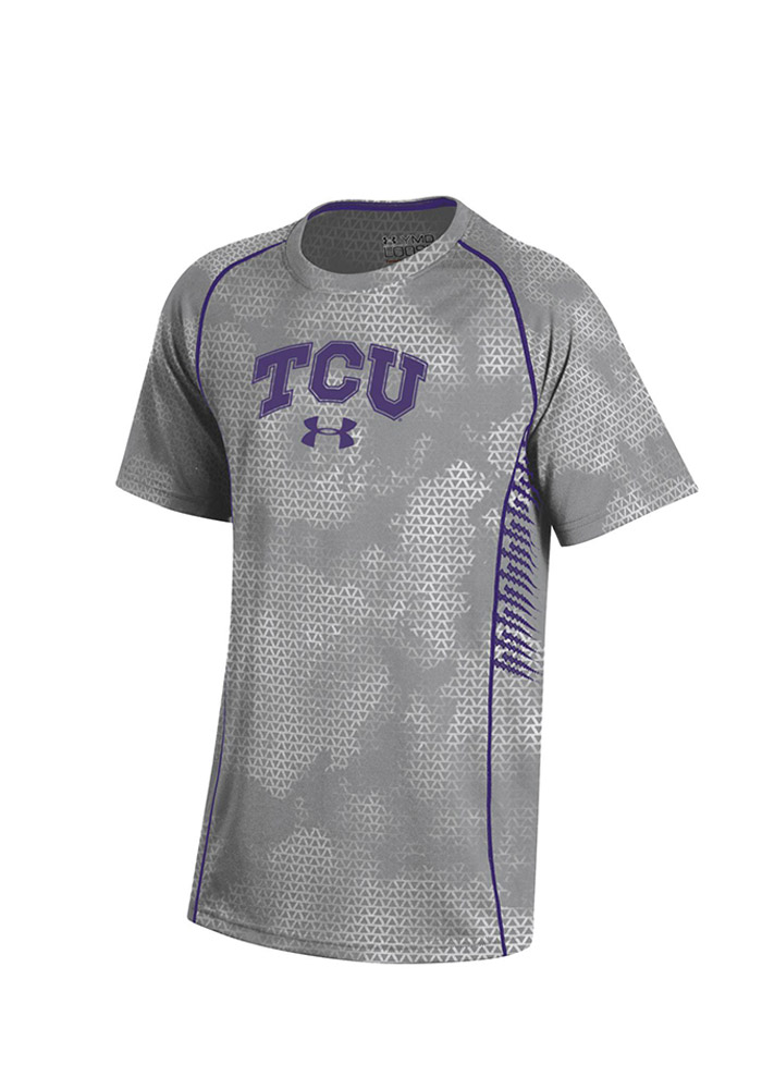 Under Armour Horned Frogs Youth Grey Limitless Performance T-Shirt 55290551