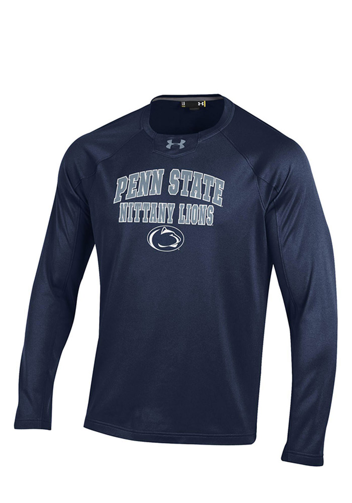 Under Armour Penn State Nittany Lions Mens Navy Blue Long Sleeve Sweatshirt - Image 1