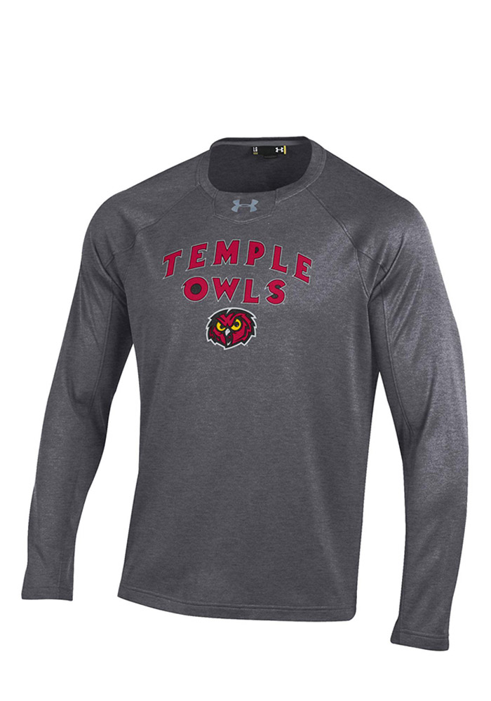 Under Armour Temple Mens Grey Performance Crew Performance Sweatshirt 55290572