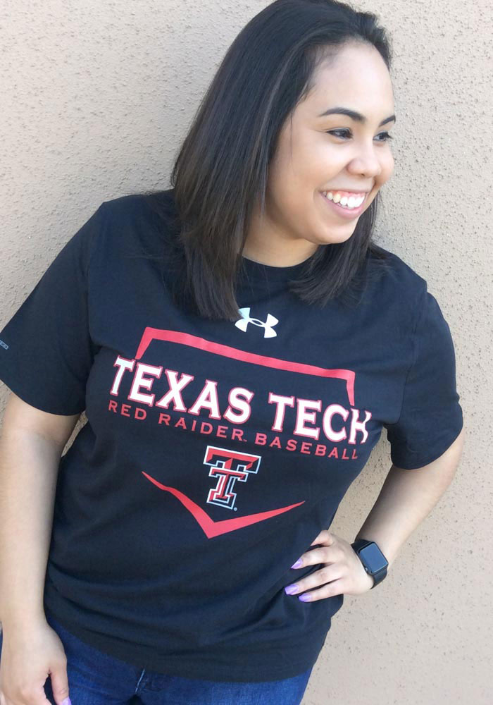 Under Armour Texas Tech Red Raiders Black Base Short Sleeve T Shirt - Image 2