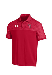 Under Armour Texas Tech Mens Black Podium Short Sleeve Polo Shirt