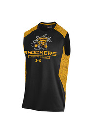 Wichita State Shockers Under Armour Apex All Over Print Tank Top - Black