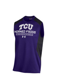 Under Armour TCU Horned Frogs Purple Apex Print Tank Top