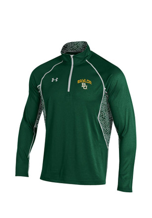 Under Armour Baylor Mens Green 1/4 Zip Performance Pullover