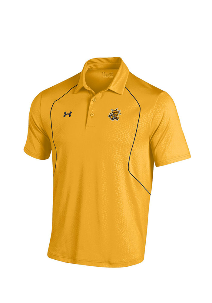 Under Armour Wichita State Shockers Mens Gold Apex Short Sleeve Polo - Image 1