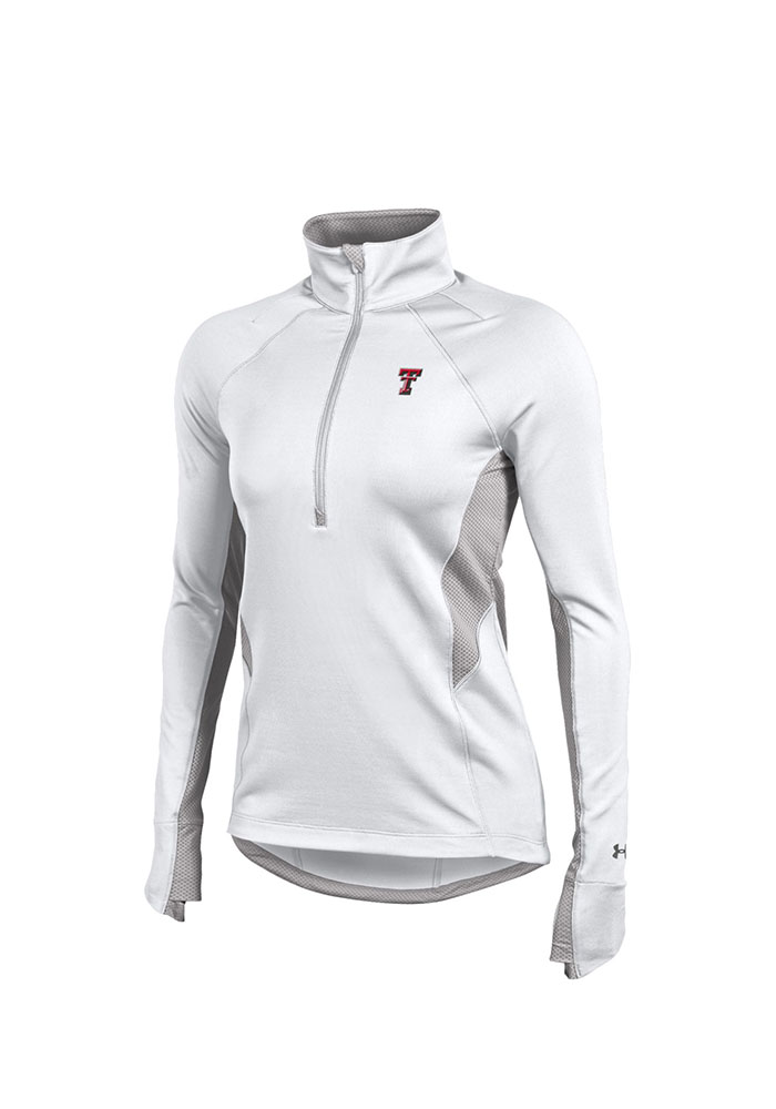 Under Armour Texas Tech Red Raiders Juniors White Verve 1/4 Zip Pullover - Image 1