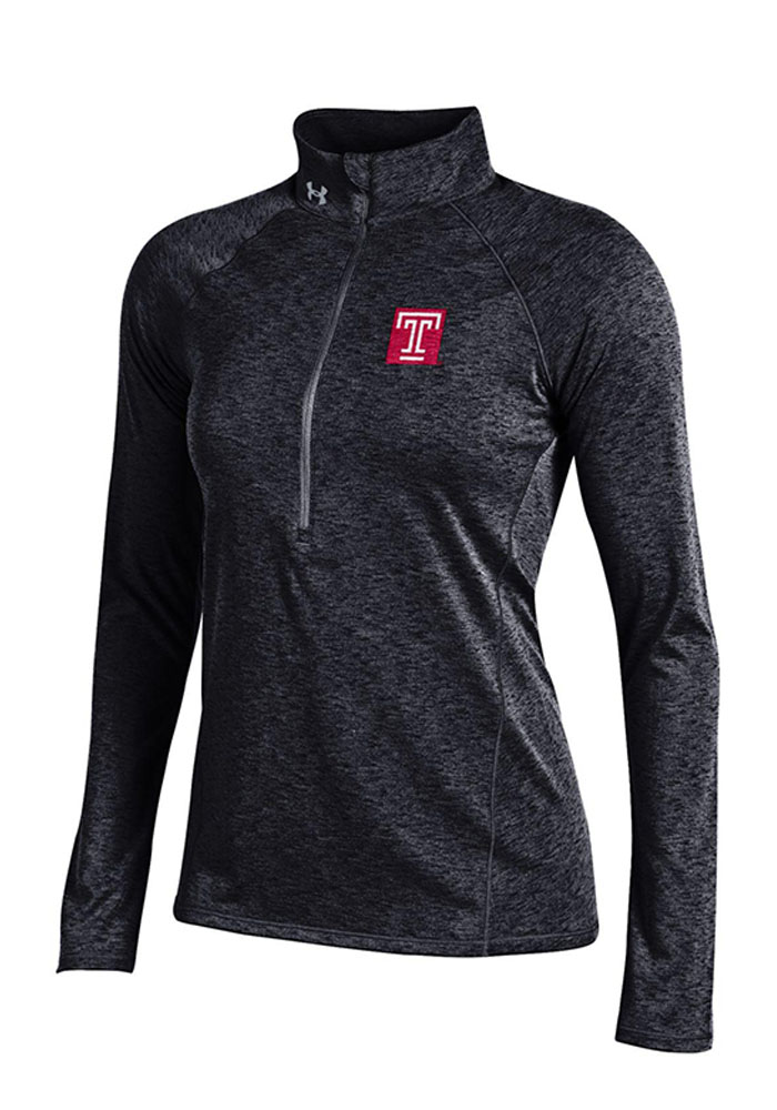 Under Armour Temple Womens Black Grainy Tech 1/4 Zip Pullover - Image 1