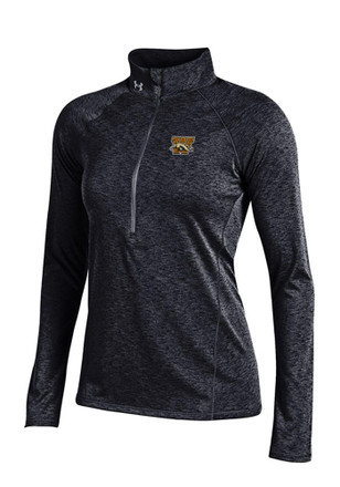 Under Armour Western Michigan Broncos Womens Grainy Tech Black 1/4 Zip Pullover