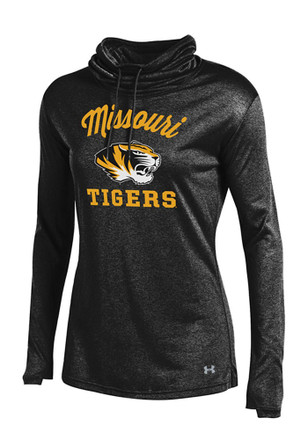 Under Armour Missouri Tigers Womens Grainy LS Tech Black Crew Sweatshirt