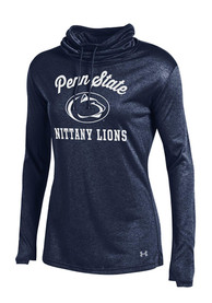 Under Armour Penn State Nittany Lions Womens Grainy LS Tech Navy Blue Crew Sweatshirt