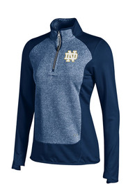 Notre Dame Fighting Irish Womens Under Armour Eclipse CGI 1/4 Zip - Navy Blue