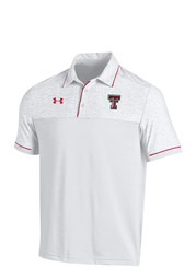 Under Armour Texas Tech Mens White Podium Short Sleeve Polo Shirt