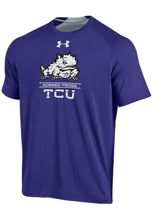 Under Armour Horned Frogs Mens Purple Charged SMU Performance Tee