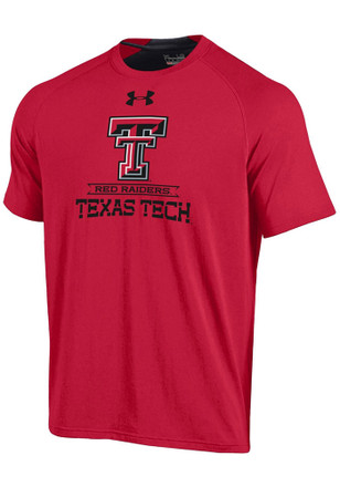 Under Armour Texas Tech Mens Red Charged SMU Performance Tee