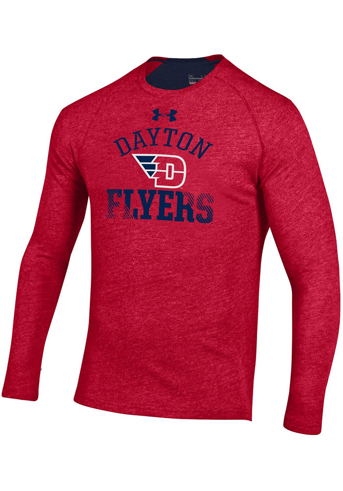 Under Armour Dayton Flyers Red Charged SMU Long Sleeve T-Shirt - Image 1