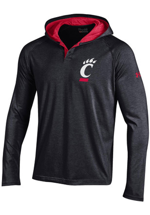 Under Armour Cincinnati Mens Charged Henley SMU Performance Hood