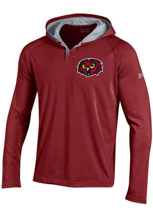 Under Armour Temple Owls Mens Charged Henley SMU Hood