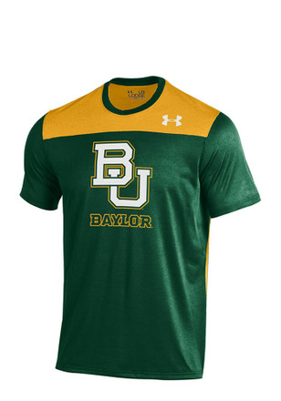 Under Armour Baylor Mens Green Foundation Tech Performance Tee