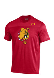 Under Armour Dogs Mens Red Foundation Tech Performance T-Shirt