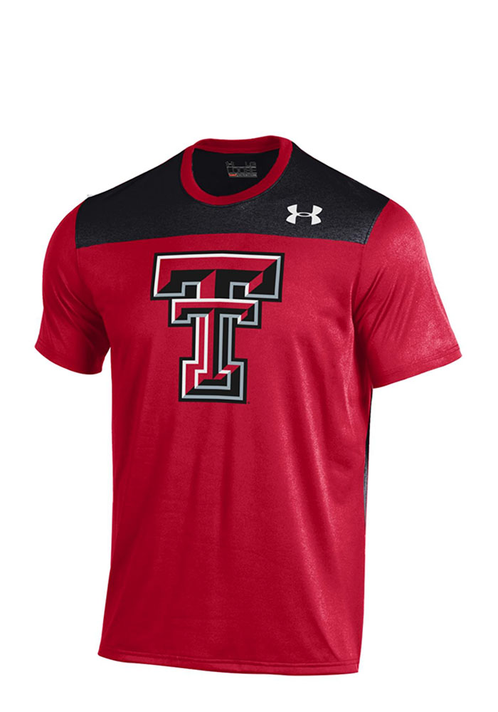Under Armour Texas Tech Mens Red Foundation Tech Performance T-Shirt 55290963