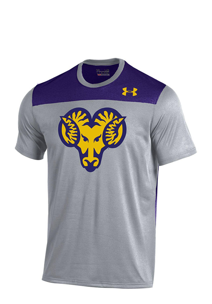 Under Armour West Chester Golden Rams Mens Gray Foundation Tech T-Shirt, Grey, 100% POLYESTER, Size L