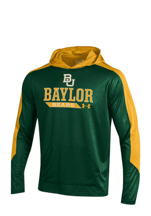 Under Armour Baylor Bears Mens Green Foundation Hoodie
