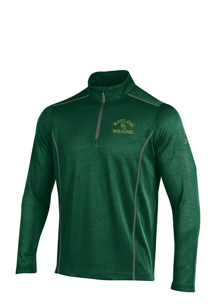 Under Armour Baylor Bears Mens Green SMU Validate Long Sleeve 1/4 Zip Pullover - Image 1