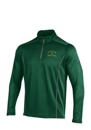 Under Armour Baylor Mens Green SMU Validate 1/4 Zip Pullover